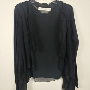 Zara Knit | Black open front Cardigan Medium